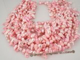 blister1033 6-7mm Hot pink baroque freshwater blister pearl strands in wholesale