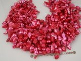 blister1034 megranate red 7-8mm freshwater cultured blister pearl strands onsale