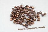 lpb076 20pcs 12-13mm baroque undrilled nugget loose pearl in brown
