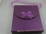 box016 20pcs purple Cardboard Portable Jewelry set Box