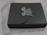 box018 20pcs black Cardboard Portable box for necklace set