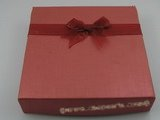 box019 20pcs red Cardboard box use for necklace set