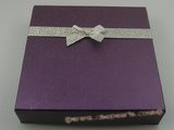 box022 20pcs Cardboard necklace& earrings boxes in purple color