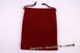 box030 100pcs velvet pouches in Dark Red color( 4.9 inch *6 inch )