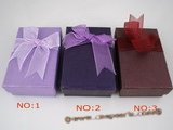 box036 20pcs Cardboard pendant Box with ribbon bowknot