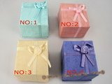 box042 wholesale 20pcs Cardboard Ring Box with flower bowknot