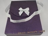 box045 wholesale 20pcs purple Portable Jewelry Box with ribbon bowknot