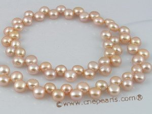 online jewelry side-dirlled 6-7mm pink color bread loosen pearl strands--bread02 Cnepearls Ltd :  freshwater pearls pearl strands