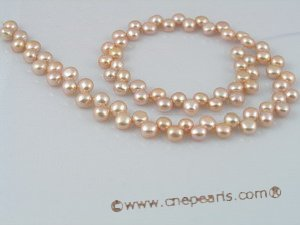bread02 side-dirlled 6-7mm pink bread loosen pearl strands