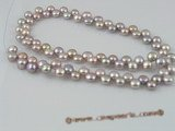 bread03 side-dirlled 6-7mm purple bread loosen pearl strands