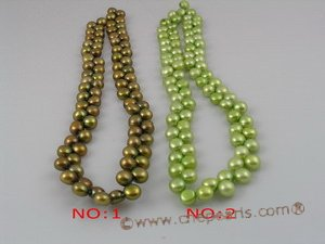 bread05 side-dirlled 7-8mm dye color bread loosen pearl strands