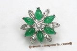 brooch011  18KGP Flower design jasper brooches-summer collection