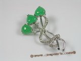 brooch012  18KGP green jasper brooches--summer collection