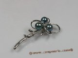 brooch019 sterling silver black freshwater pearl brooches wholesale