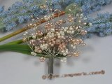 brooch022 multicolor seed pearl chandelier bridal brooch