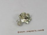 brooch028 Elegant flower design shell brooch with cultured pearl