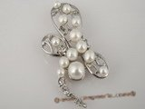 brooch046 Freshwater bread pearl dragonfly pattern brooch& pin wholesale