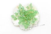 Brooch076 Green Faceteed Crystal Culster Flower  Brooch in wholesale