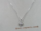 bsp008 Sterling Silver ring child's pendant with 16 inch Box Chain