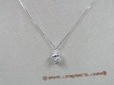 bsp009 Sterling Silver Snoopy shape child's pendant with 16 inch Box Chain
