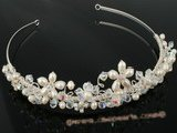 btj008 wholesale skillfully hand wired pearl tiara