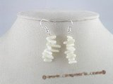 ce008 handcrafted branch white branch coral sterling dangle earrings