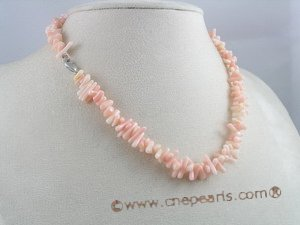 cn002 stunnting branch coral beads necklace with lobster clasp