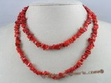 cn009 red nugget coral beads rope coral necklace