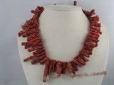cn069 branch red sponge coral necklaces in wholesale