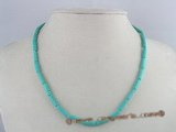 cn071 wholesale 4*13mm column turquoise necklace
