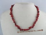 cn078 stunning red branch coral necklace