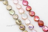 coin032 wholesale 15*26mm fine quality oval freshwater coin pearl strand