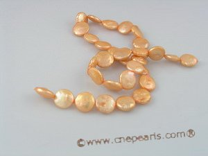 coin_03 12mm dye color cultured coin freshwater pearl strands
