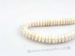 coin_10 12-14mm nature white cultured freshwater coin shape pearls