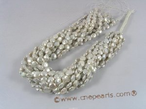 coin_22  8-9mm white coin freshawater pearl strands for wholesale