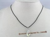 CP003  11*16mm tear drop shaped Austria crystal pendant with sterling mounting