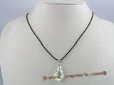CP005  15*22mm tear drop shaped Austria crystal sterling pendant