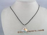 CP007 20*20mm cross faceted Austria crystal pendant with sterling mounting
