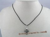 CP008 15*20mm cross faceted Austria crystal pendant with sterling mounting