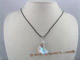 CP010 30mm crescent shaped Austria crystal pendant