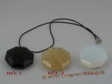 cp012 40mm Octagon shaped faceted chinese crystal Pendant necklace