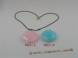 cp013 40mm Octagon shaped faceted chinese crystal Pendant necklace