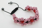 crbr042 Marvelous Double-layered Shamballa Inspired Bracelet