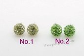 Cre024 Sterling Silver Shamballa Stud Earrings in wholesale