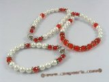 crnset015 white shell pearl& faceted chinese crystal necklace jewelry set
