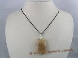 CRP003 30*40MM ladderlike yellow chinese crystal Pendant