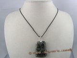 CRP004 30*40MM ladderlike black chinese crystal Pendant