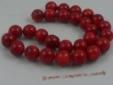 "cs012 14mm round red coral beads strands wholesale, 16""in length"