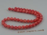 "cs013 8mm round pink coral beads strands wholesale, 16""in length"