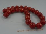 "cs015 16mm round red coral beads strands wholesale, 16""in length"